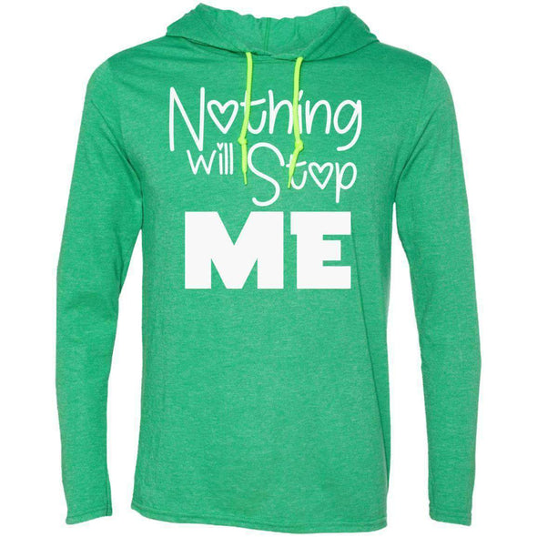 Nothing Will Stop Me T-Shirts CustomCat Heather Green/Neon Yellow Small