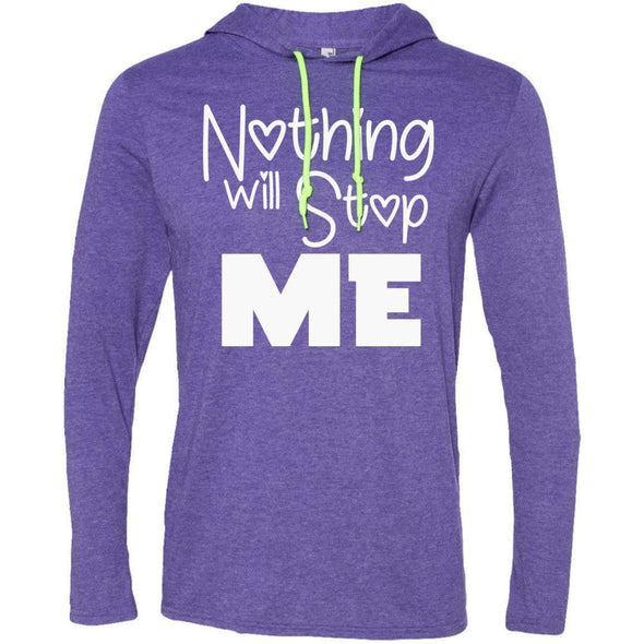 Nothing Will Stop Me T-Shirts CustomCat Heather Purple/Neon Yellow Small