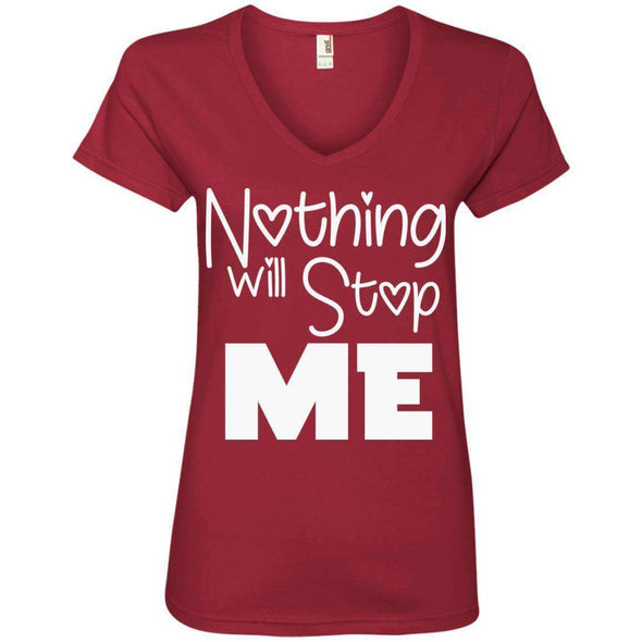 Nothing Will Stop Me T-Shirts CustomCat Independence Red Small