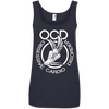 Obsessive Cardio Disorder Apparel CustomCat 882L Anvil Ladies' 100% Ringspun Cotton Tank Top Navy Small