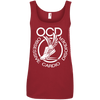 Obsessive Cardio Disorder Apparel CustomCat 882L Anvil Ladies' 100% Ringspun Cotton Tank Top Red Small