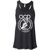 Obsessive Cardio Disorder Apparel CustomCat B8800 Bella + Canvas Flowy Racerback Tank Black X-Small