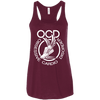 Obsessive Cardio Disorder Apparel CustomCat B8800 Bella + Canvas Flowy Racerback Tank Maroon X-Small