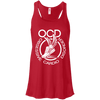 Obsessive Cardio Disorder Apparel CustomCat B8800 Bella + Canvas Flowy Racerback Tank Red X-Small