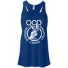 Obsessive Cardio Disorder Apparel CustomCat B8800 Bella + Canvas Flowy Racerback Tank True Royal X-Small