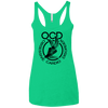 Obsessive Cardio Disorder Apparel CustomCat NL6733 Next Level Ladies' Triblend Racerback Tank Envy X-Small