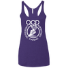 Obsessive Cardio Disorder Apparel CustomCat NL6733 Next Level Ladies' Triblend Racerback Tank Purple X-Small