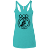 Obsessive Cardio Disorder Apparel CustomCat NL6733 Next Level Ladies' Triblend Racerback Tank Tahiti Blue X-Small