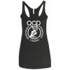 Obsessive Cardio Disorder Apparel CustomCat NL6733 Next Level Ladies' Triblend Racerback Tank Vintage Black X-Small