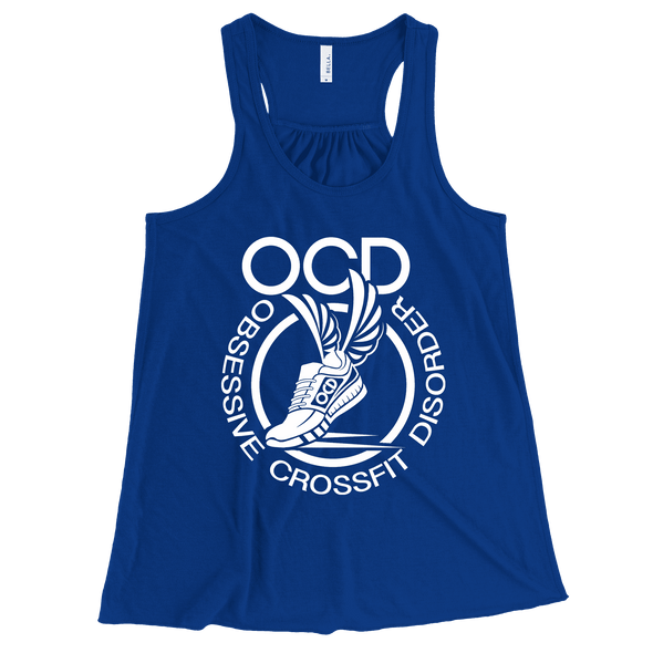 Obsessive Crossfit Disorder Apparel CustomCat B8800 Bella + Canvas Flowy Racerback Tank True Royal X-Small