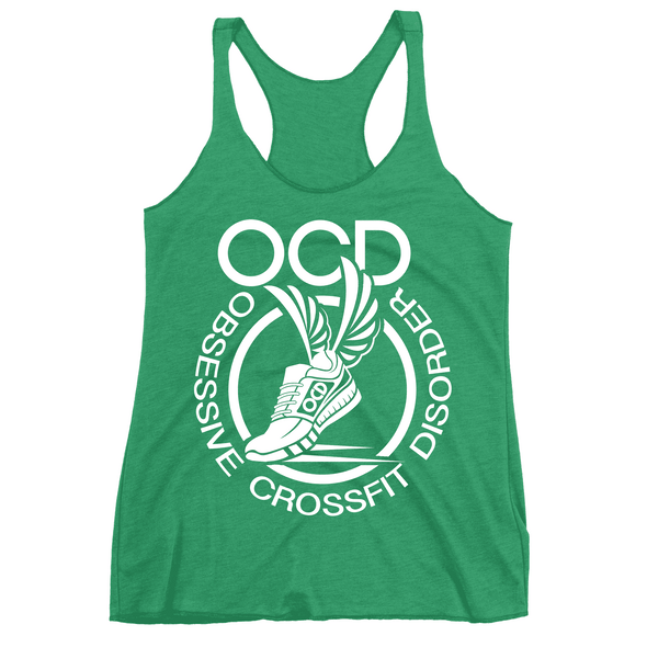 Obsessive Crossfit Disorder Apparel CustomCat NL6733 Next Level Ladies' Triblend Racerback Tank Envy X-Small