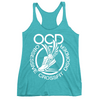 Obsessive Crossfit Disorder Apparel CustomCat NL6733 Next Level Ladies' Triblend Racerback Tank Tahiti Blue X-Small