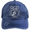 Obsessive Crossfit Disorder Trucker Cap Apparel CustomCat 6990 Distressed Unstructured Trucker Cap Navy/Navy One Size