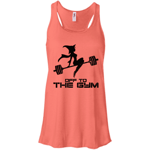 Off to the Gym Apparel CustomCat B8800 Bella + Canvas Flowy Racerback Tank Coral X-Small