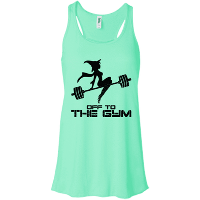Off to the Gym Apparel CustomCat B8800 Bella + Canvas Flowy Racerback Tank Mint X-Small