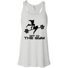 Off to the Gym Apparel CustomCat B8800 Bella + Canvas Flowy Racerback Tank White X-Small