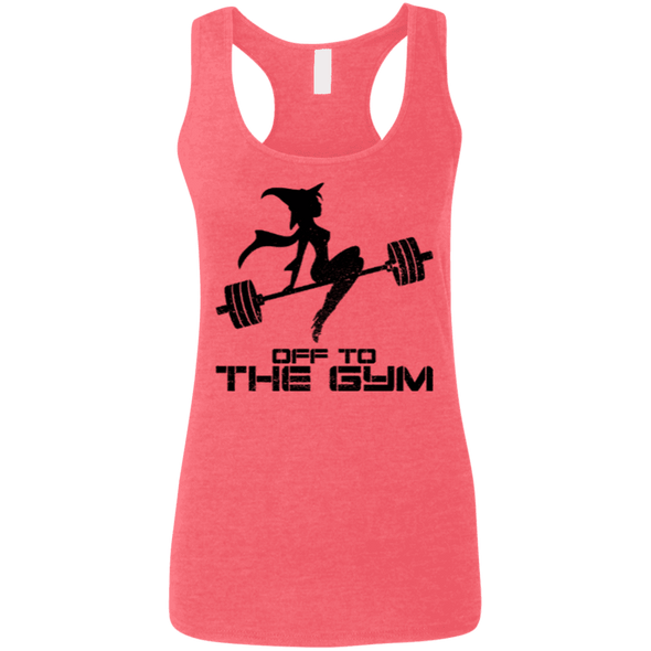 Off to the Gym Apparel CustomCat G645RL Gildan Ladies' Softstyle Racerback Tank Heather Red Small