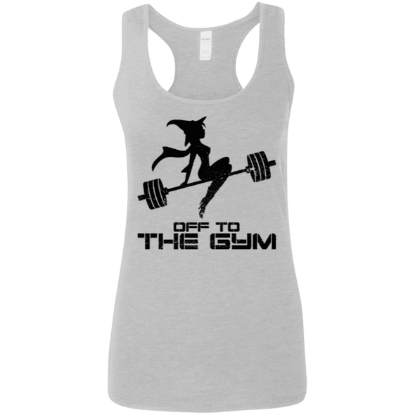 Off to the Gym Apparel CustomCat G645RL Gildan Ladies' Softstyle Racerback Tank Sport Grey Small