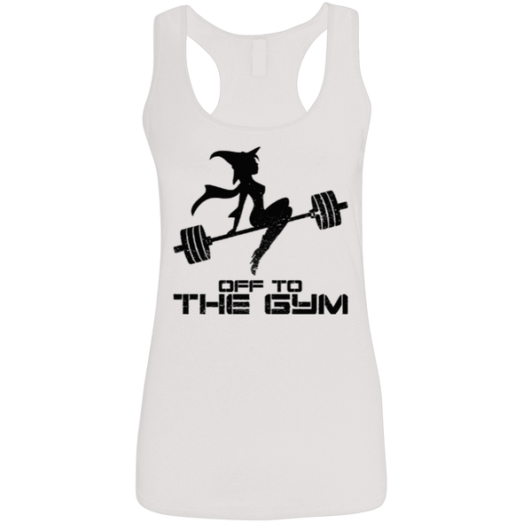 Off to the Gym Apparel CustomCat G645RL Gildan Ladies' Softstyle Racerback Tank White Small