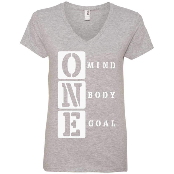 ONE Body Mind Goal T-Shirts CustomCat Heather Grey S