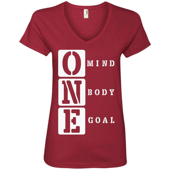 ONE Body Mind Goal T-Shirts CustomCat Independence Red S