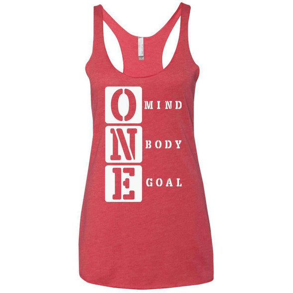 ONE Body Mind Goal T-Shirts CustomCat Vintage Red X-Small