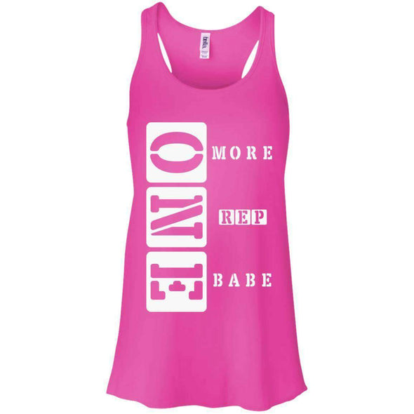 ONE More Rep Babe T-Shirts CustomCat Neon Pink X-Small