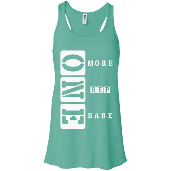 ONE More Rep Babe T-Shirts CustomCat Teal X-Small
