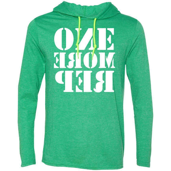 ONE MORE REP T-Shirts CustomCat Heather Green/Neon Yellow Small