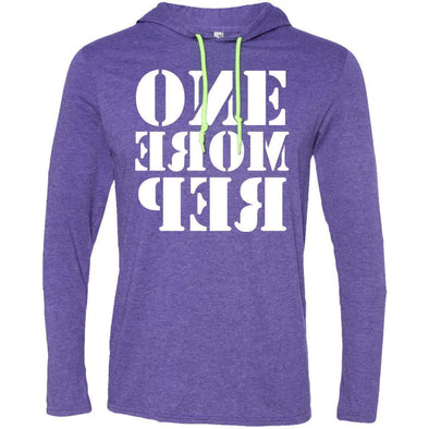 ONE MORE REP T-Shirts CustomCat Heather Purple/Neon Yellow Small