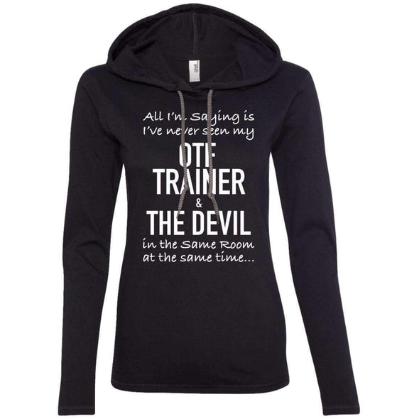 OTF TRAINER is the Devil T-Shirts CustomCat Black/Dark Grey Small