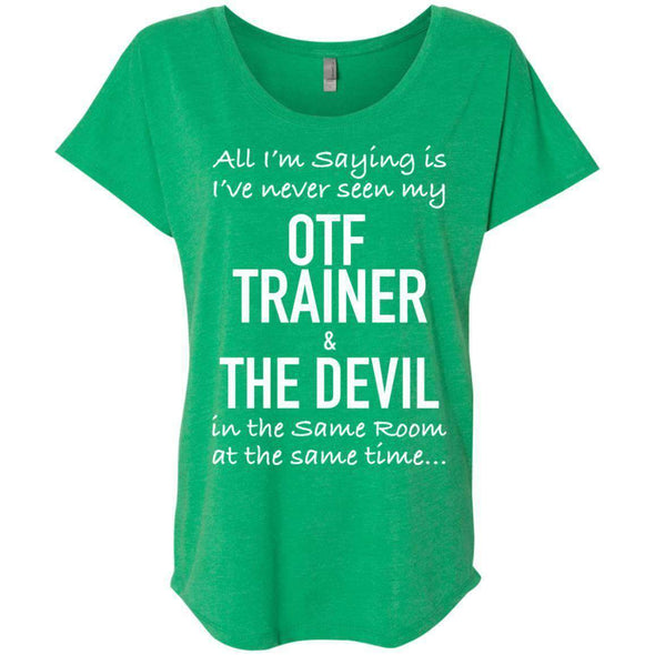 OTF TRAINER is the Devil T-Shirts CustomCat Envy X-Small