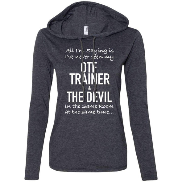 OTF TRAINER is the Devil T-Shirts CustomCat Heather Dark Grey/Dark Grey Small