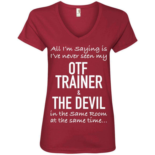OTF TRAINER is the Devil T-Shirts CustomCat Independence Red Small