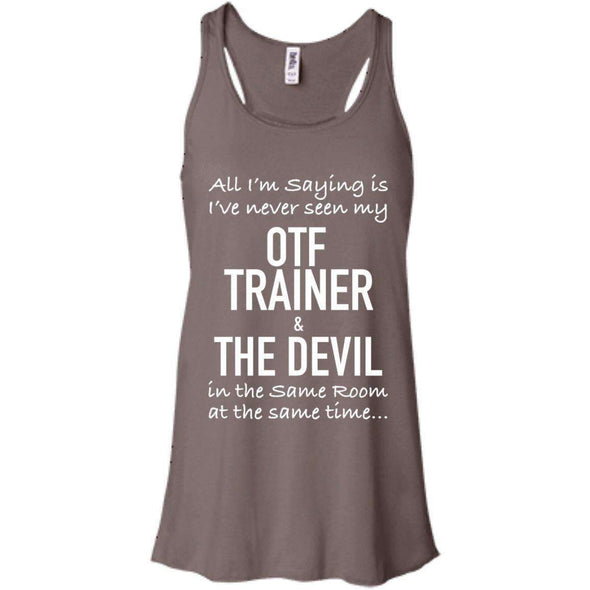 OTF TRAINER is the Devil T-Shirts CustomCat Pebble Brown X-Small