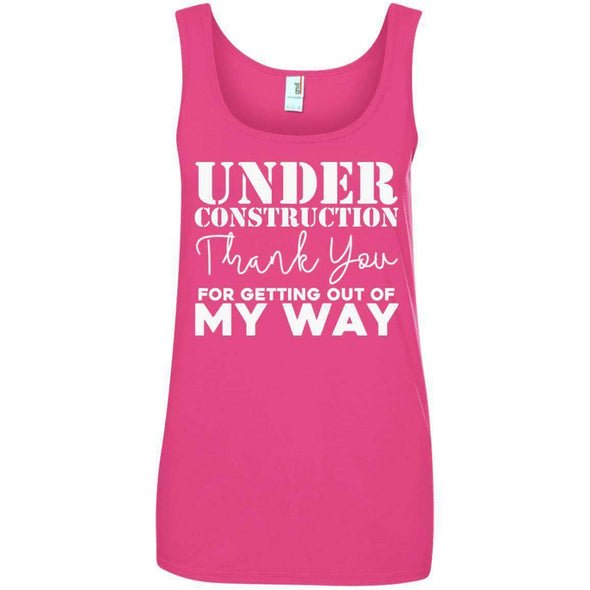 OUT OF MY WAY T-Shirts CustomCat Hot Pink Small