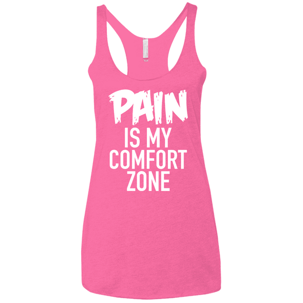 Pain is My Comfort Zone Apparel CustomCat NL6733 Next Level Ladies' Triblend Racerback Tank Vintage Pink X-Small