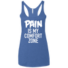 Pain is My Comfort Zone Apparel CustomCat NL6733 Next Level Ladies' Triblend Racerback Tank Vintage Royal X-Small