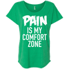 Pain is My Comfort Zone Tees Apparel CustomCat NL6760 Next Level Ladies' Triblend Dolman Sleeve Envy X-Small