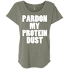 Pardon My Protein Dust Tees Apparel CustomCat NL6760 Next Level Ladies' Triblend Dolman Sleeve Venetian Grey X-Small