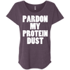 Pardon My Protein Dust Tees Apparel CustomCat NL6760 Next Level Ladies' Triblend Dolman Sleeve Vintage Purple X-Small