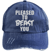 Pleased To Beast You Hats CustomCat Navy/Navy One Size
