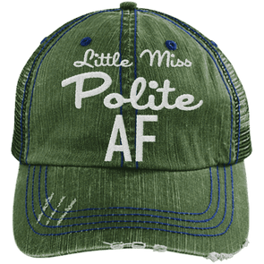 Polite AF Hats CustomCat Dark Green/Navy One Size