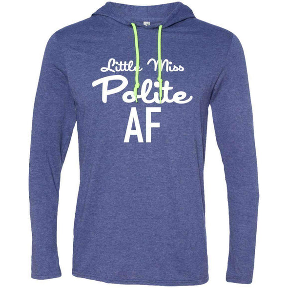 Polite AF T-Shirts CustomCat Heather Blue/Neon Yellow Small