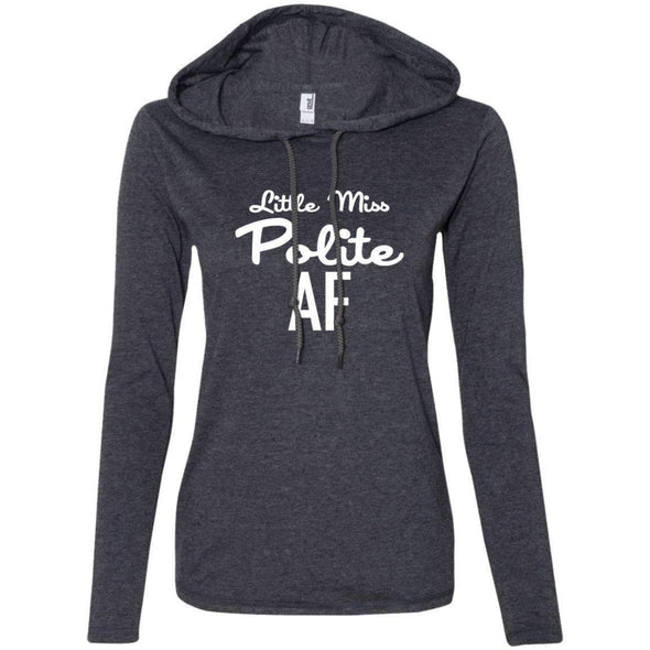Polite AF T-Shirts CustomCat Heather Dark Grey/Dark Grey Small