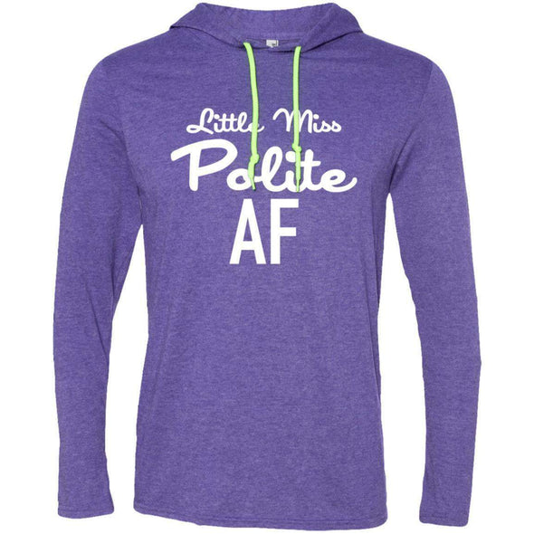 Polite AF T-Shirts CustomCat Heather Purple/Neon Yellow Small