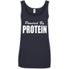 Powered by Protein Apparel CustomCat 882L Anvil Ladies' 100% Ringspun Cotton Tank Top Navy Small