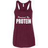 Powered by Protein Apparel CustomCat B8800 Bella + Canvas Flowy Racerback Tank Maroon X-Small