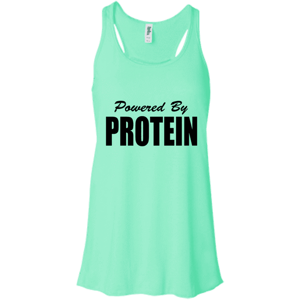 Powered by Protein Apparel CustomCat B8800 Bella + Canvas Flowy Racerback Tank Mint X-Small