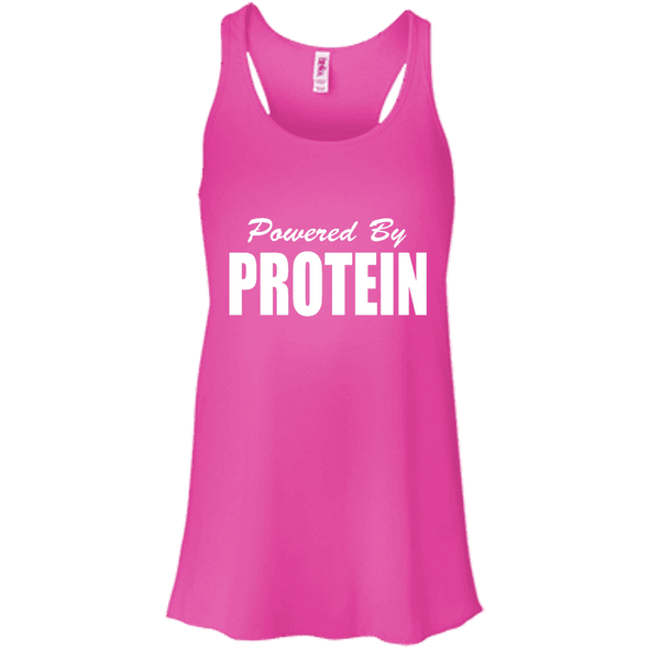 Powered by Protein Apparel CustomCat B8800 Bella + Canvas Flowy Racerback Tank Neon Pink X-Small